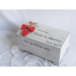 Svatební pokladnička velká - jména na přání