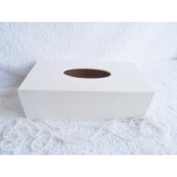 Bílý dřevěný poklop na kapesníky